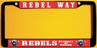 Rebels Baseball of Oregon Custom Baseball License Plate Frame