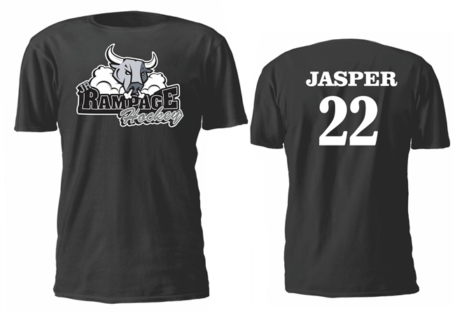 San Antonio Jr Rampage Custom Hockey Tees