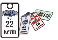 Spartan Basketball Custom  Bag Tags