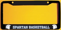 Spartan Basketball Custom Baskettball Metal License Plate Frames