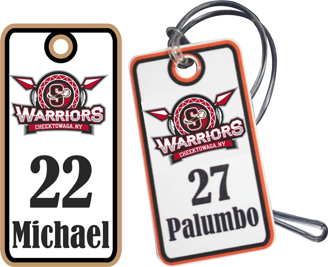 Southline Warriors Baseball Custom Bag Tags