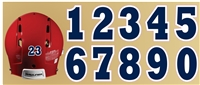 Southline Warriors Baseball Custom Helmet Number Sheets