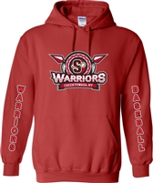 Southline Warriors Baseball Custom Long Sleeve Red Hoodies