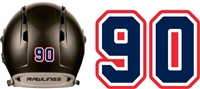 The Prospects Hockey Helmet Numbers Decals