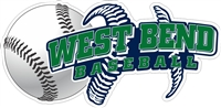 West Bend Bulldogs Baseball Custom Baseball Decals | Stickers for your Car Window