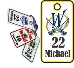 Wheatfield Blades Hockey Association Custom Hockey Bag Tags