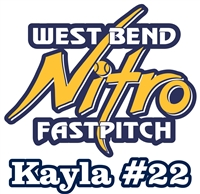 West Bend Nitro Fastpitch Softball Custom Baseball Decals | Stickers for your Car Window