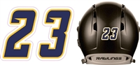 West Bend Nitro Baseball Helmet Number Decals