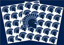 West Bend West Spartans Youth Baseball Custom Helmet Team Award Decals