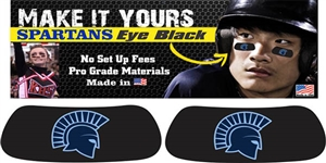 West Bend West Spartans Youth Baseball Custom Player Eye Black