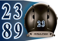 West Bend West Spartans Youth Baseball Custom Helmet Numbers Decals