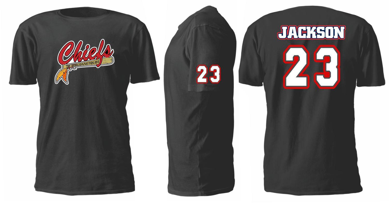 Connetquot chiefs custom baseball team t shirts hoodies for Custom t shirts with custom tags