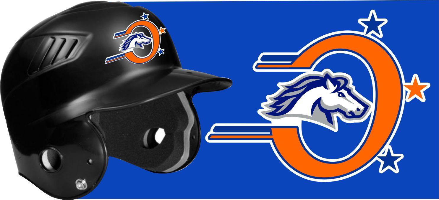 Custom baseball helmet decals stickers