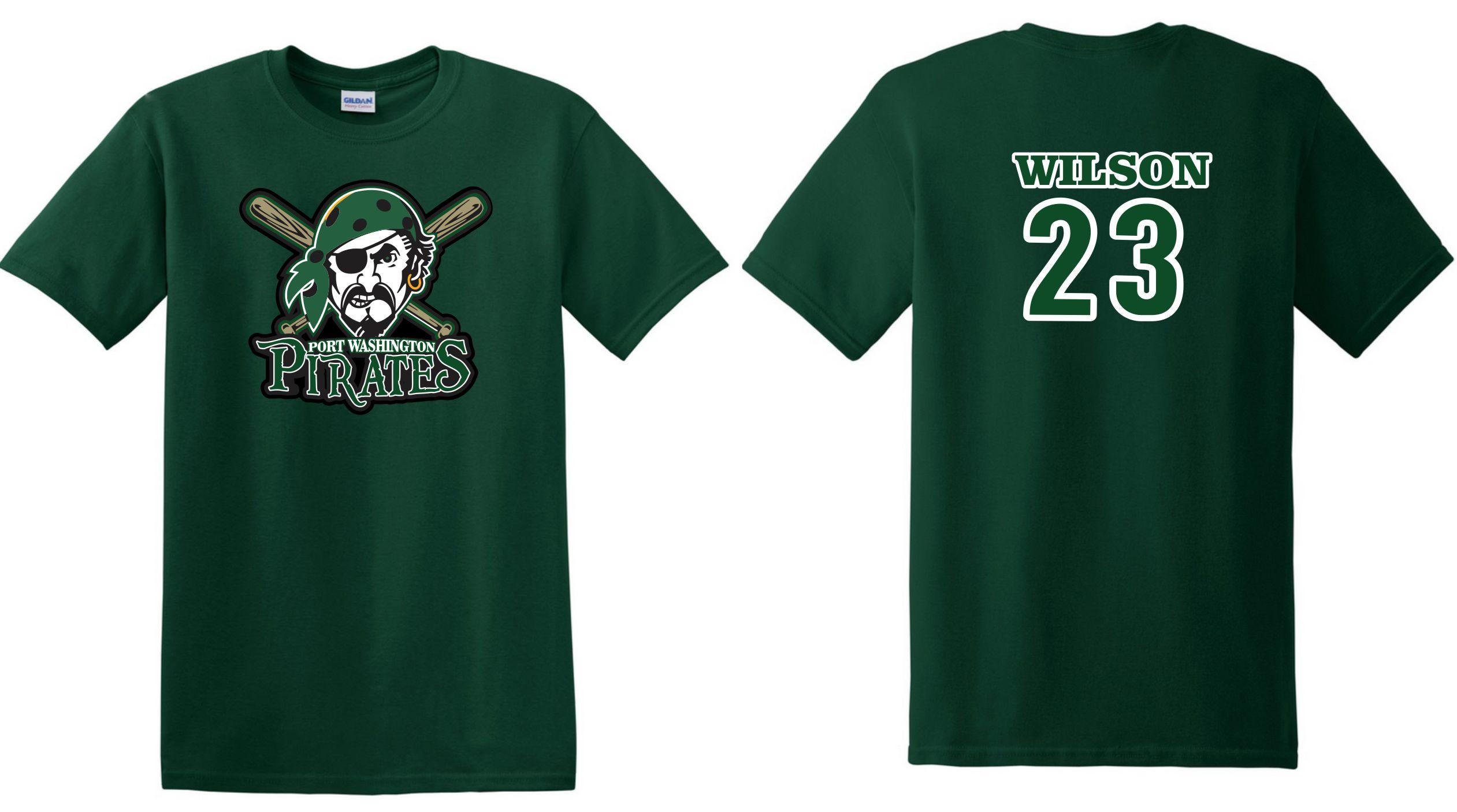 T shirt design youth - Port Washington Lady Pirates Baseball Softball Custom Baseball T Shirts