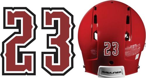 Custom Baseball & Softball Batting Helmet Numbers - custom ...