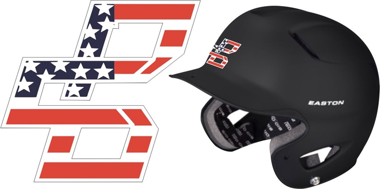 Bat company custom baseball helmet decals