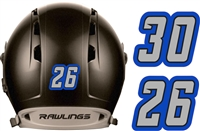 Custom Black Knights Individual Hockey Helmet Numbers