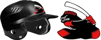 Murfreesboro Blacksox Custom Baseball Helmet Decals