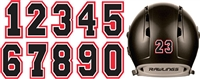 Murfreesboro Blacksox Youth Baseball Custom Helmet Number Sheets