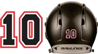 Murfreesboro Blacksox Custom Baseball Helmet Numbers Decals
