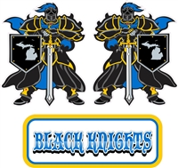 Black Knights Hockey Side and Front Helmet Decals