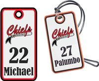Connetquot Youth Baseball Custom Baseball Bag Tags