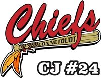 Connetquot Chiefs Baseball Car Window Decals