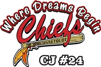 Connetquot Chiefs Baseball Car Decals
