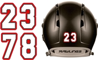 Baseball & Softball Batting Helmet Number Sheets