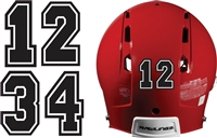 Baseball & Softball Batting Helmet Number Sheets - 0-9 full Team Colors, look like the Pros