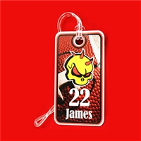 Custom Football Bag Tags