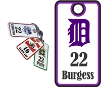 DHS Dukes Baseball Bag Tags