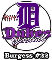 DHS Dukes Baseball Custom Baseball Decals | Stickers for your Car Window