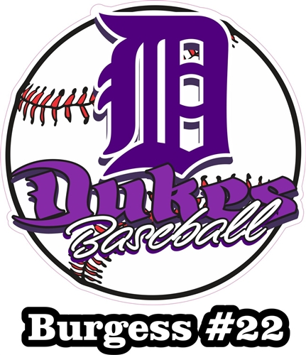 DHS Dukes Baseball Custom Baseball Car Window DecalsStickers - Custom car decals baseball