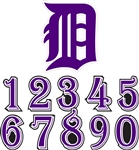 Baseball Helmet Number Decals