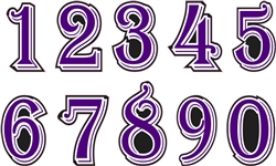 DHS Dukes Baseball Custom Helmet Number Sheets - 0-9 full Team Colors