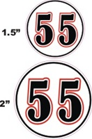 Custom Football Helmet Numbers | Die Cut | Cut for Each Player