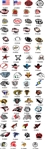 Custom Football Helmet Award Decals | Helmet Stickers
