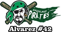 Greenland Pirates Youth Baseball Custom Baseball Decals | Stickers for your Car Window