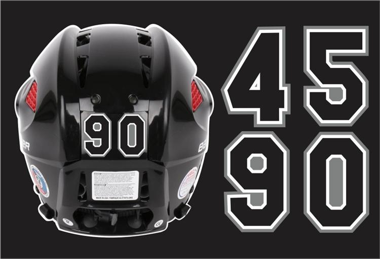 San Antonio Jr Rampage Helmet Number Decals Tagsports