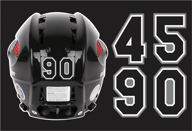 Custom Hockey Helmet Numbers
