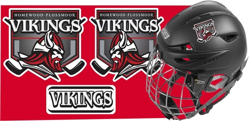 Homewood flossmoor vikings hockey helmet decals