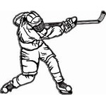 HP13 Hockey Sticker