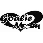 Custom Goalie Mom Hockey Decal and Sticker