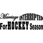 Marriage Interupted Hockey Decal