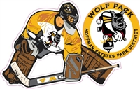 Hoffman Wofpack Hockey Clug 10 Goalie Car Window Decal clings | Stickers
