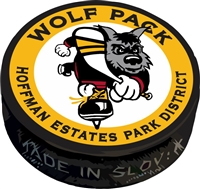 Hoffman Wolfpack Hockey Club Custom Award Puck