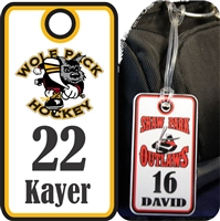 Hoffman Wolfpack Hockey Club Custom Hockey Bag Tags
