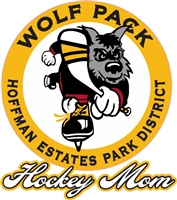 Hoffman Wofpack Hockey Club Hockey Mom Car Window Decal clings | Stickers