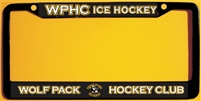 Hoffman Wolfpack Hockey Club Custom Hockey Metal License Plate Frames